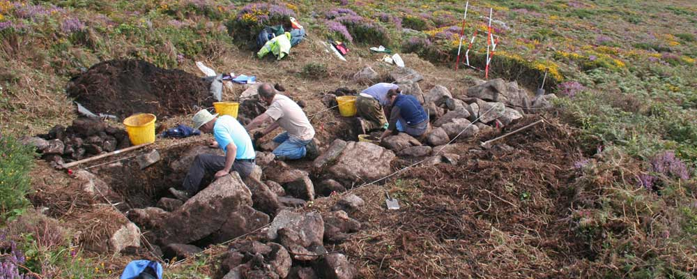 Excavation at Carn Galva